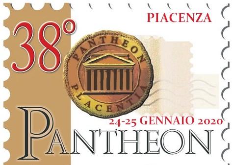 Il logo a francobollo di Pantheon