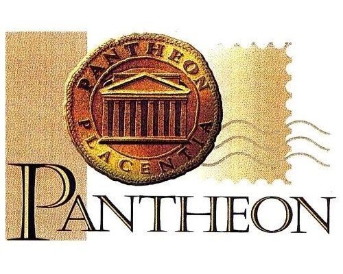 Logo di Pantheon il convegno numismatico filatelico e cartofilo di Piacenza
